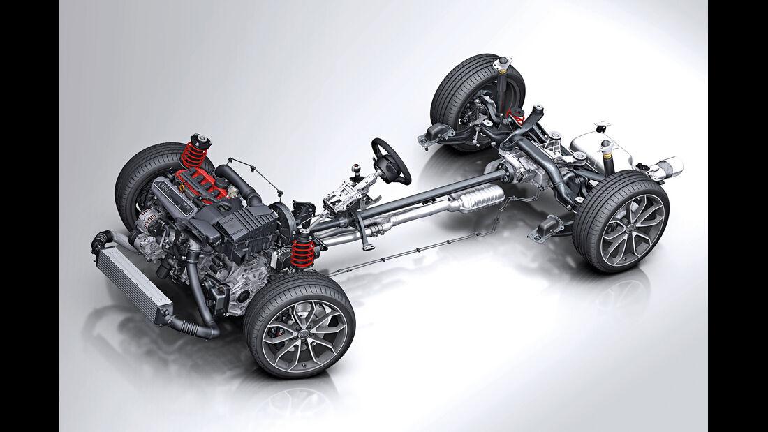 Audi Q1, Technik, Allrad