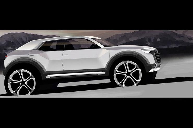 Audi Q1 Zeichnung