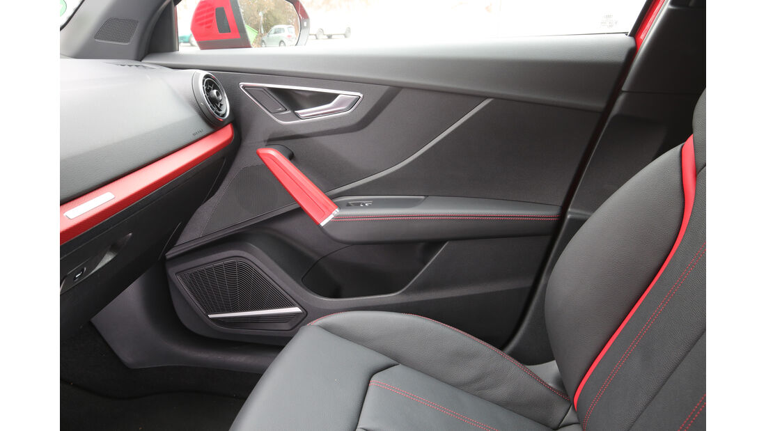 Audi Q2 1.4 TFSI, Türinnenseite, Ablagefach
