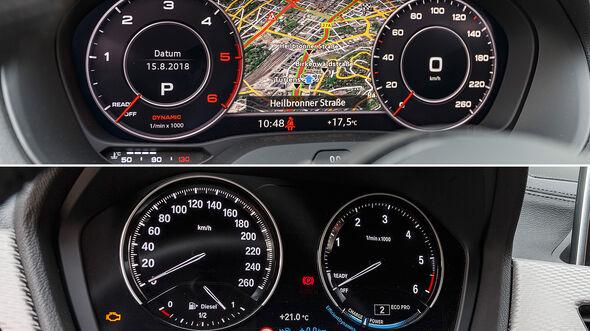 Audi Q2 2.0 TDI Quattro, BMW X2 xDrive 18, Interieur