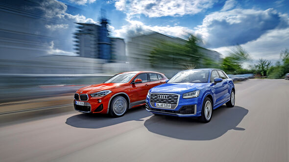 Audi Q2 2.0 TDI Quattro, BMW X2 xDrive 18d, Exterieur