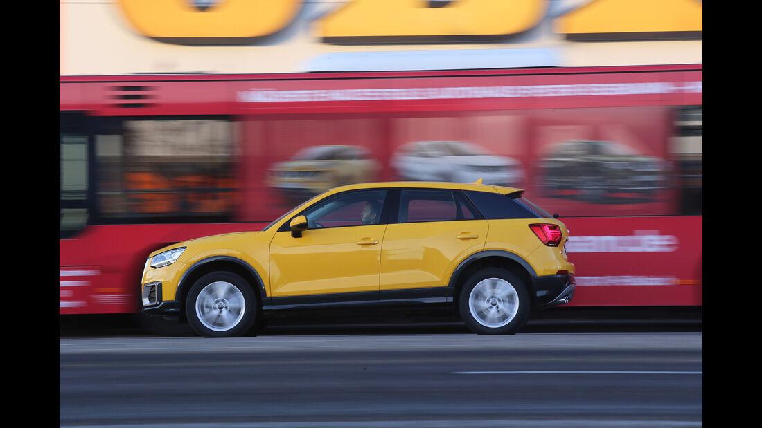 Audi Q2 2.0 TDI Quattro DSG, Seitenansicht