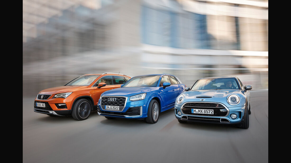 Audi Q2 2.0 TDI Quattro, Mini Clubman Cooper SD All4, Seat Ateca 2.0 TDI 4Drive