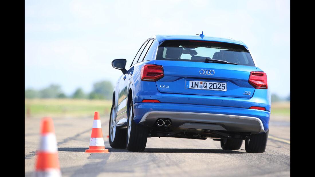 Audi Q2 2.0TDI Quattro, Heckansicht