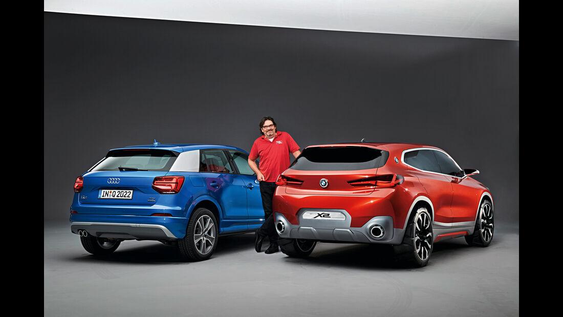 Audi Q2, BMW X2, Heckansicht