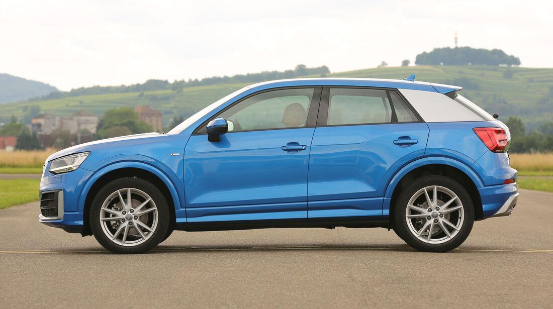 Audi Q2, Seitenansicht