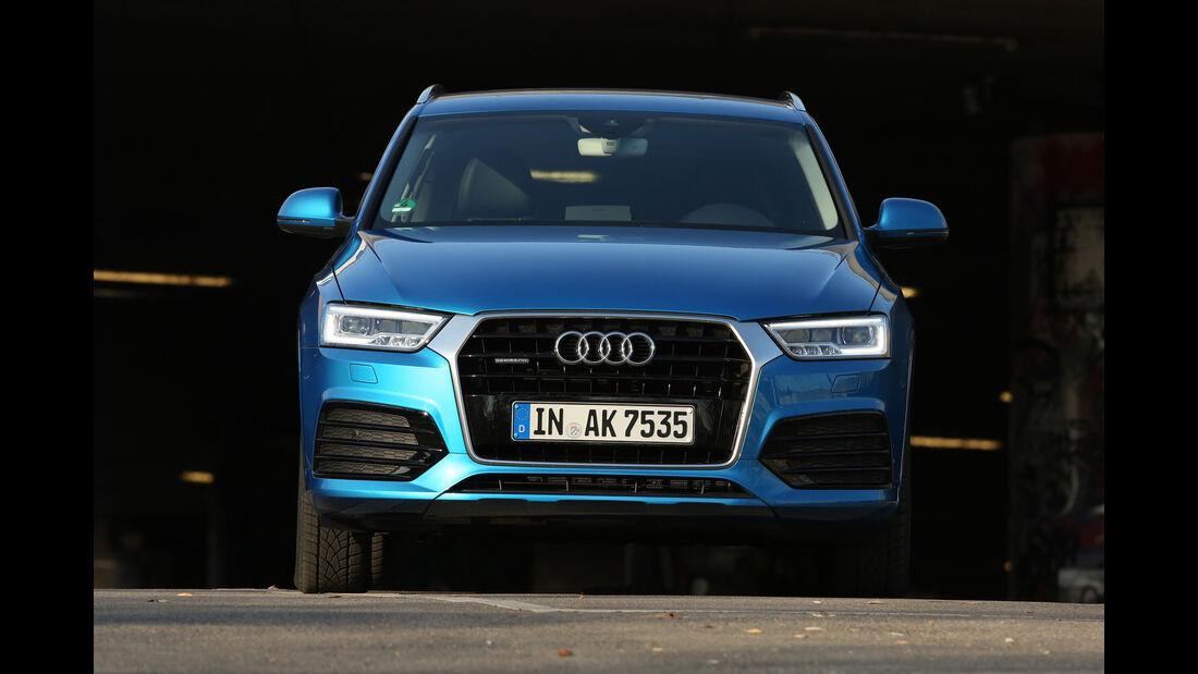 Audi Q3 2.0 TDI Quattro DSG Sport, Frontansicht