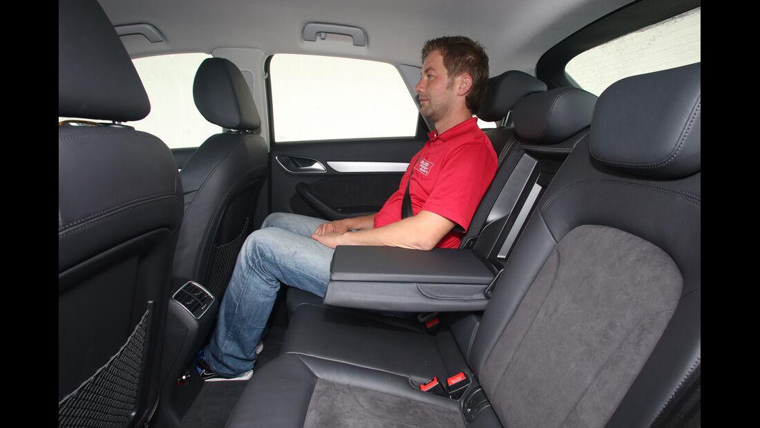 Audi Q3 2.0 TDI Quattro, Fondsitz, Beinfreiheit