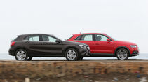 Audi Q3 2.0 TDI Quattro, Mercedes GLA 220 CDI 4Matic, Seitenansicht