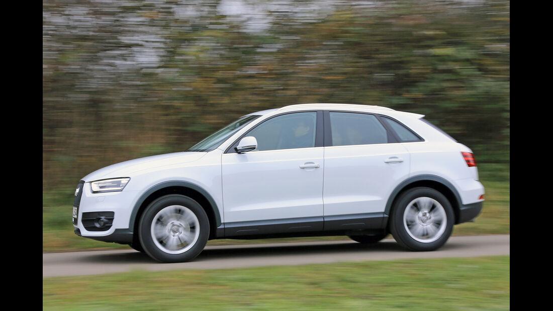 Audi Q3 2.0 TDI, Seitenansicht