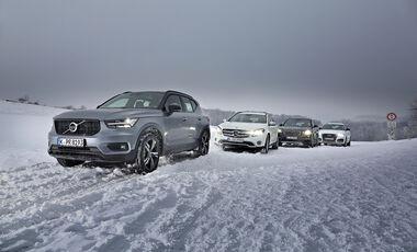 Audi Q3 2.0 TFSI Quattro, BMW X1 xDrive 25i, Mercedes GLA 250 4MAtic, Volvo XC40 T5 AWD, Vergleichstest, Exterieur