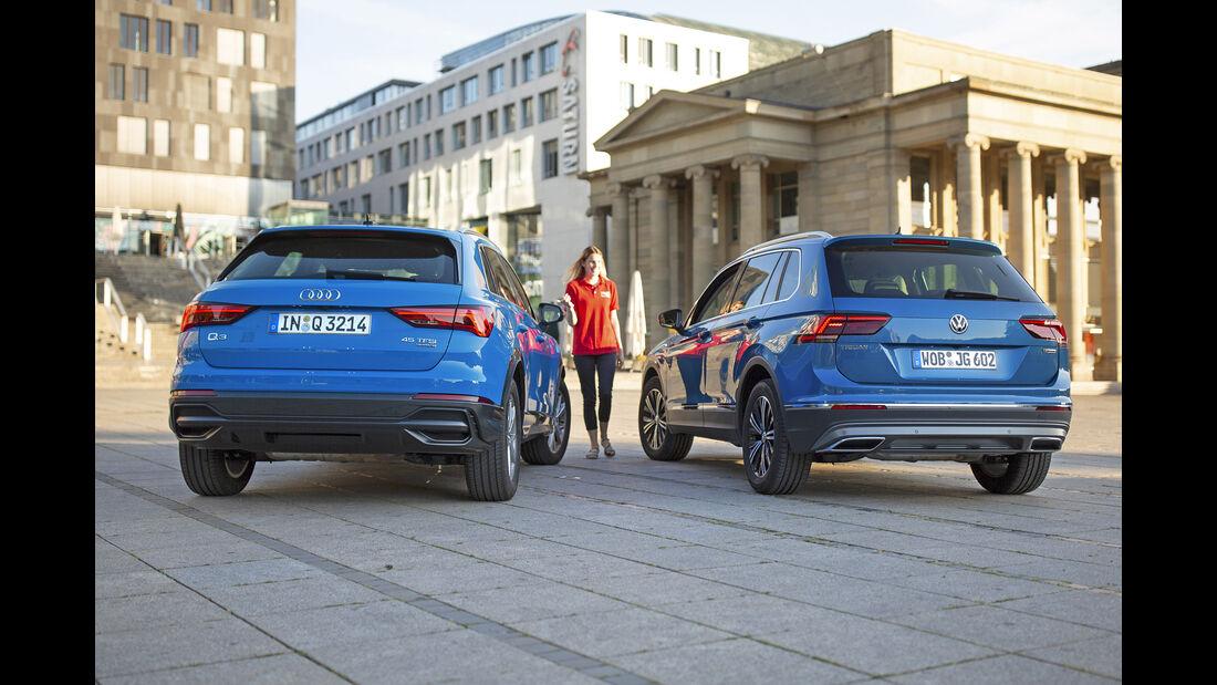 Audi Q3 45 TFSI Quattro, VW Tiguan 2.0 TSI 4Motion, Exterieur