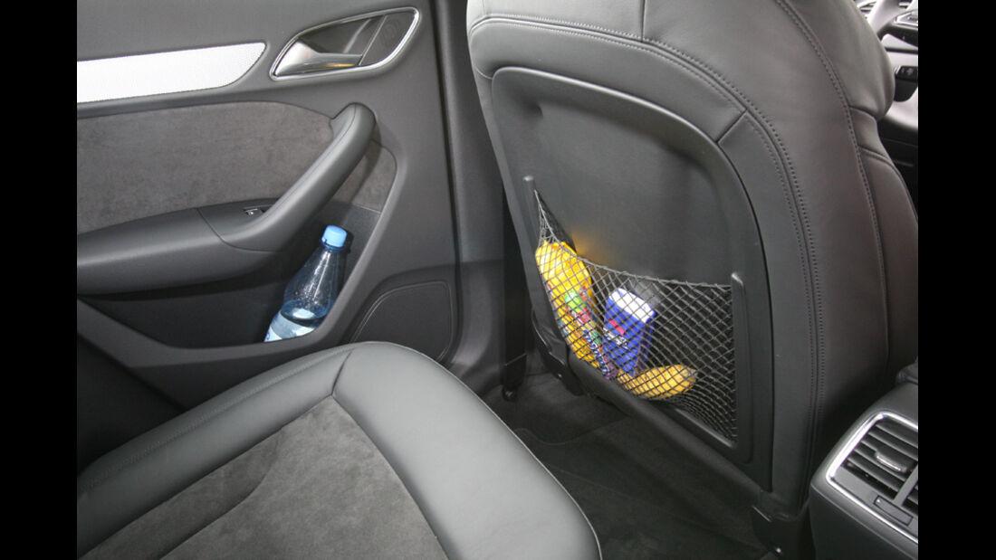 Audi Q3, Ablagemöglichkeiten