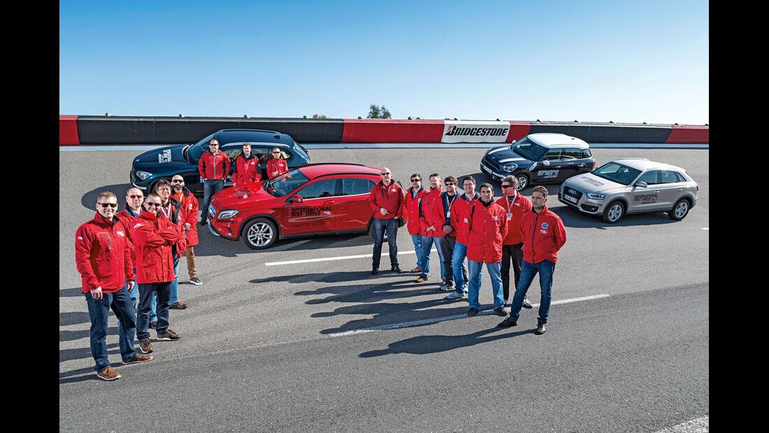 Audi Q3, BMW X1, Mercedes GLA, Mini Countryman Cooper S, Redaktion