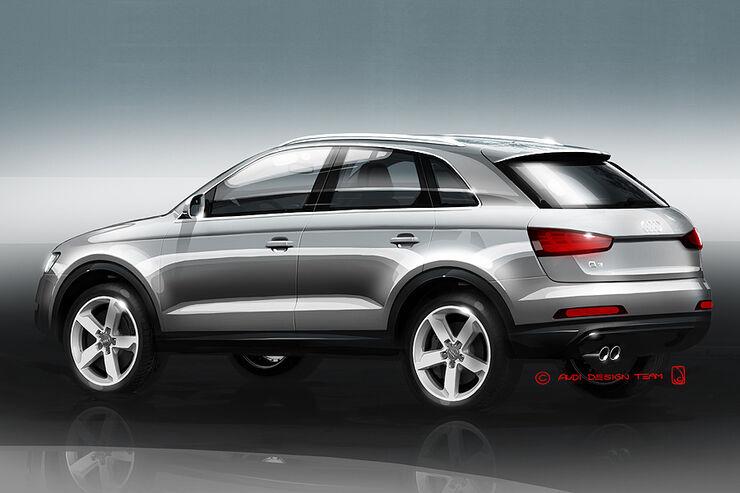 Audi Q3 Designzeichnungen