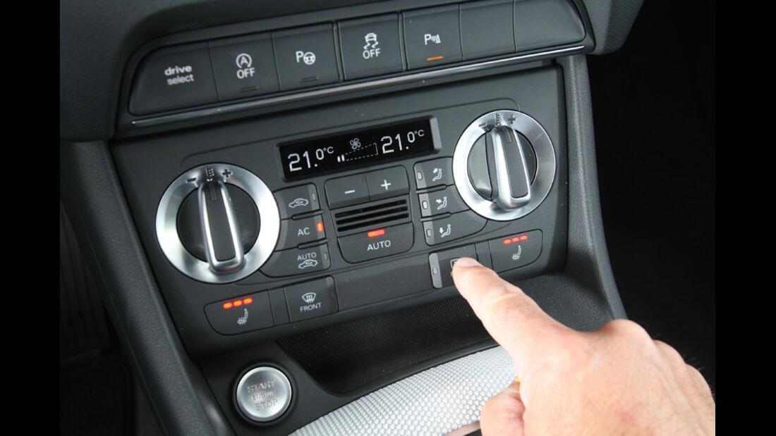 Audi Q3, Mittelkonsole