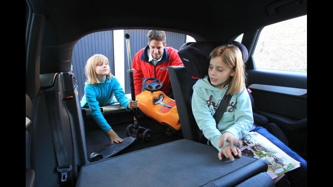 Audi Q3, Rückbank, umklappen