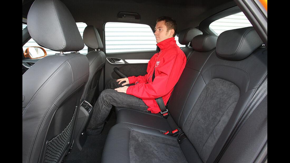 Audi Q3, Rücksitze