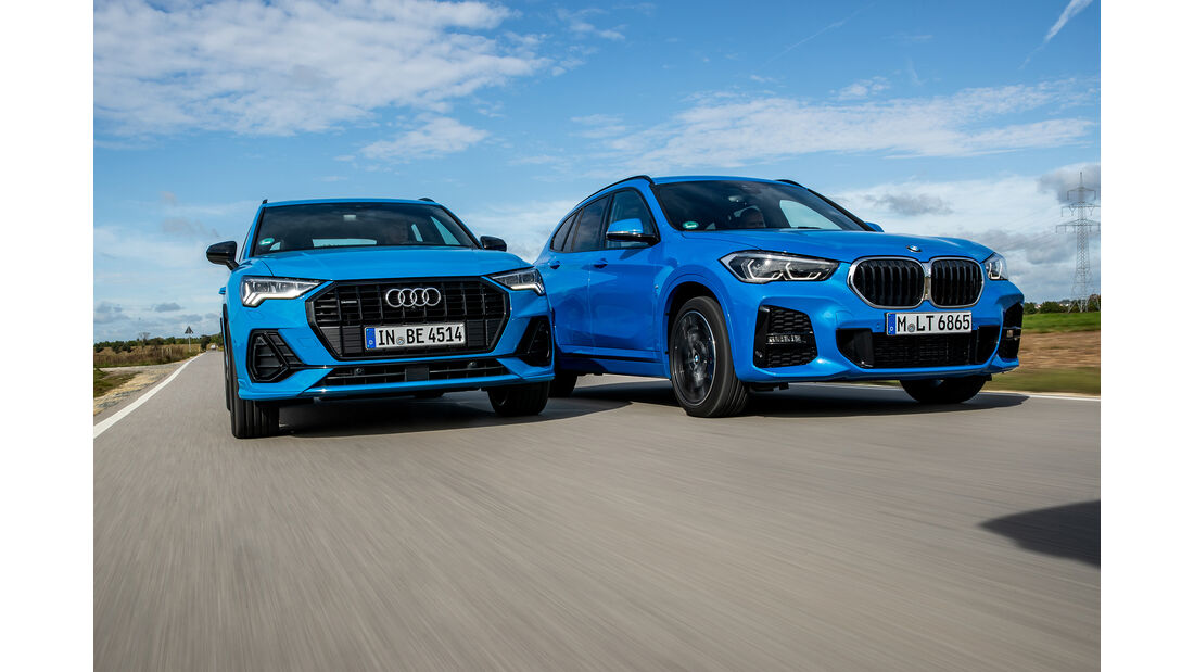 Audi Q3 S Line 45 TFSI Quattro, BMW X1 xDrive 25i M Sport, Exterieur