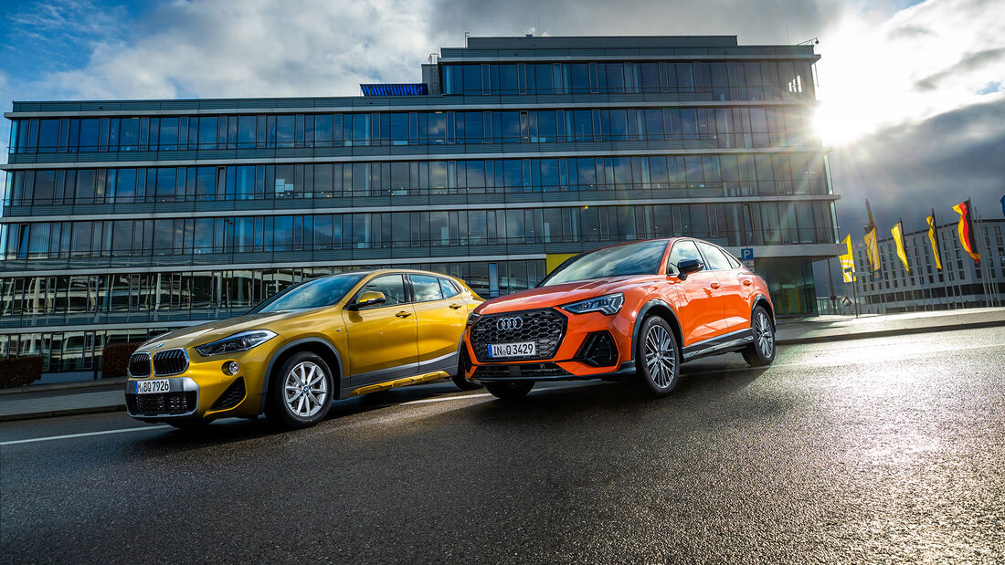 Audi Q3 SB 40 TDI Quattro, BMW X2 20d xDrive, Exterieur