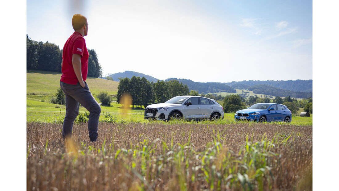 Audi Q3 Sportback 45 TFSI, BMW X2 xDrive 20i, Exterieur