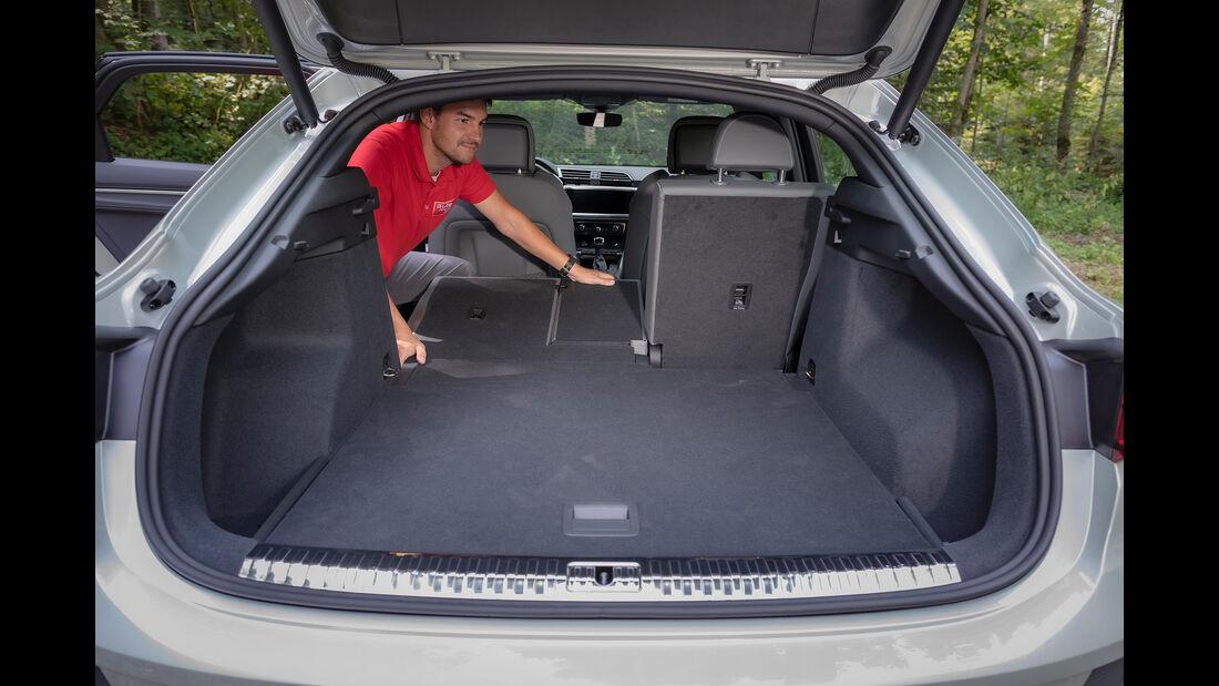 Audi Q3 Sportback, Kofferraum