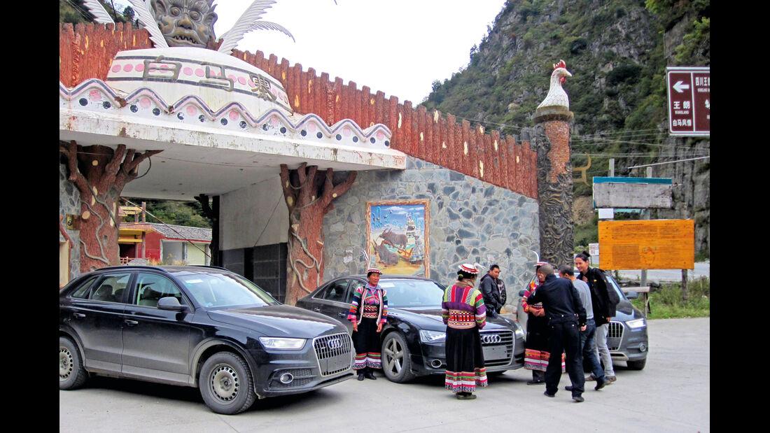 Audi Q3, Testflotte, Kloster, China