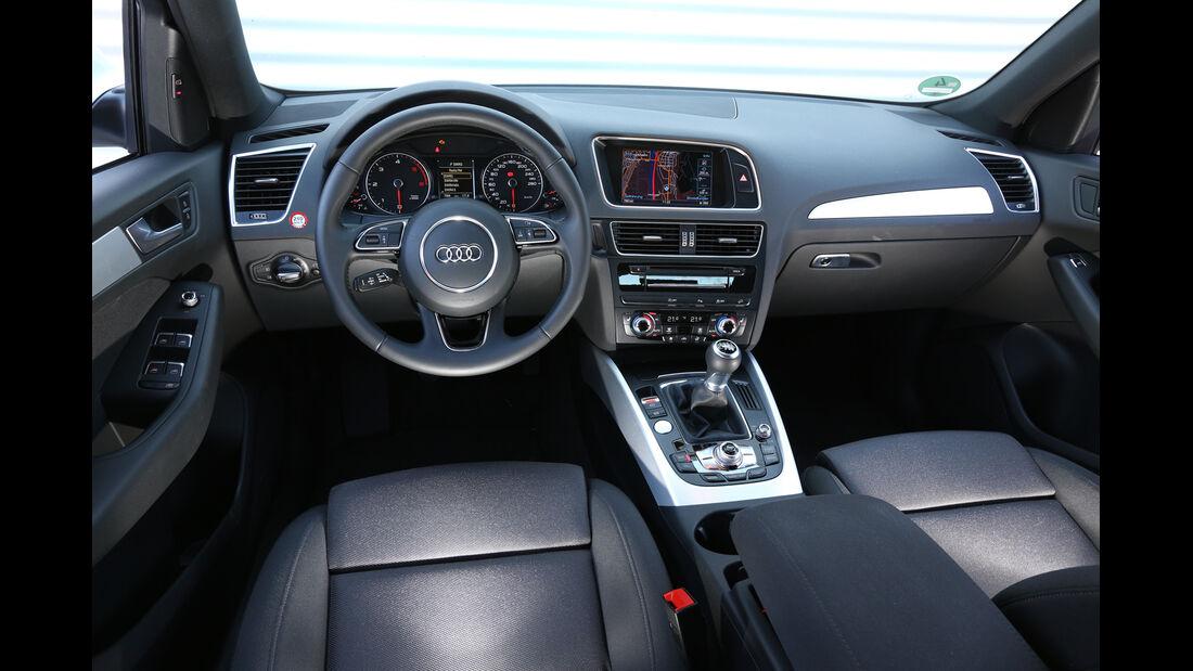 Audi Q5 2.0 TDI, Cockpit, Lenkrad