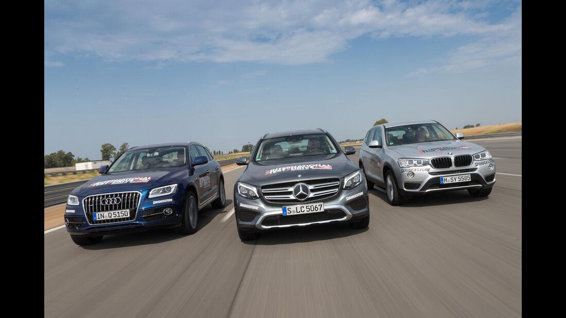 Audi Q5 2.0 TDI Quattro, BMW X3 xDrive 20d, Mercedes GLC 250 d 4Matic
