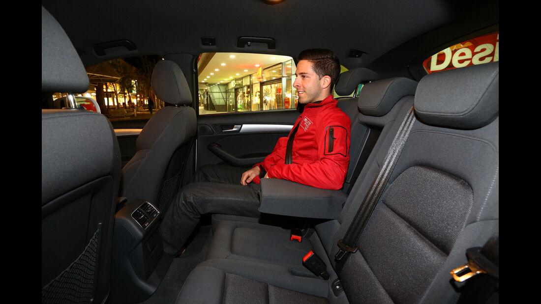 Audi Q5 2.0 TDI, Rücksitz, Beinfreiheit