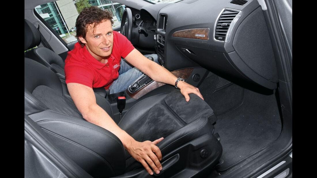 Audi Q5 2.0 TFSI, Alex Bloch, Vordersitz