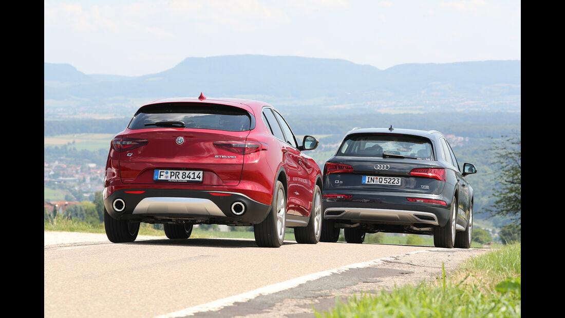 Audi Q5 2.0 TFSI Quattro, Alfa Romeo Stelvio 2.0 Turbo Q4 Seite