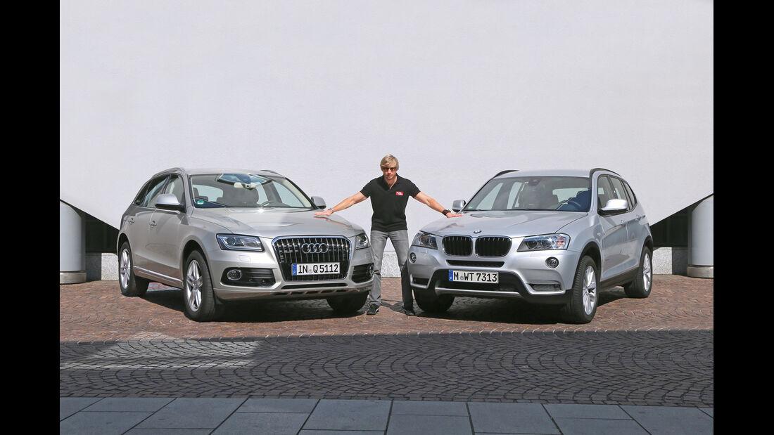 Audi Q5 2.0 TFSI Quattro, BMW X3 x-Drive 28i, Frontansicht, Marcus Peters