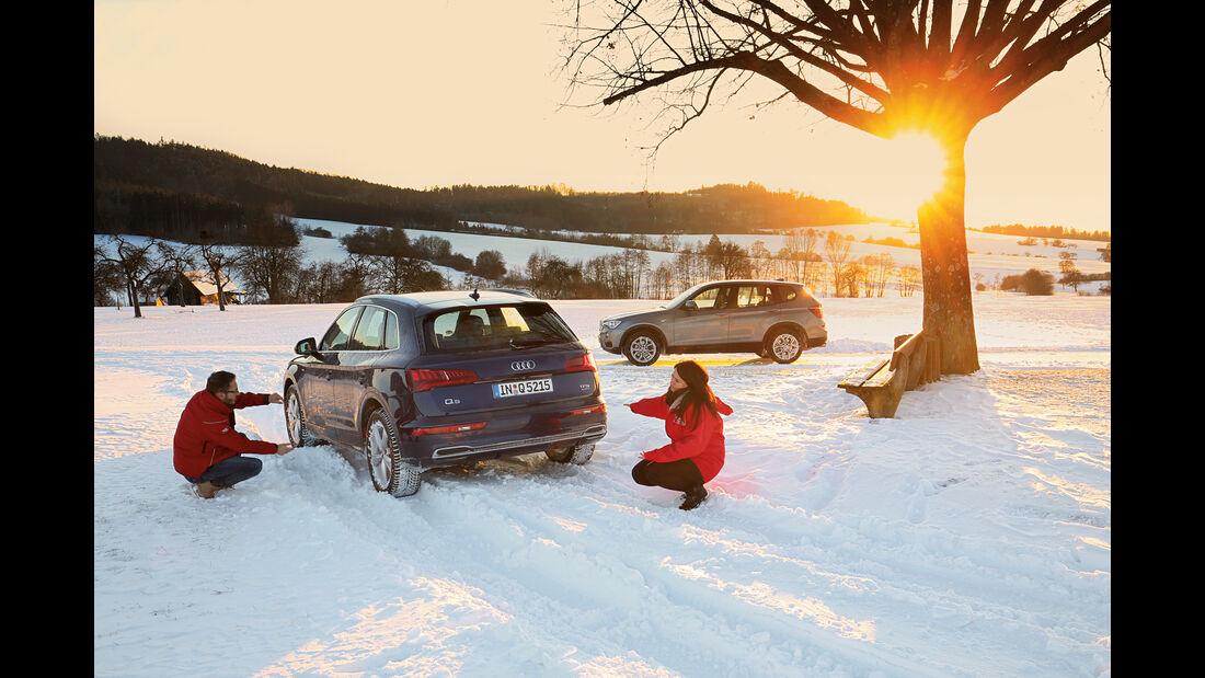 Audi Q5 2.0 TFSI Quattro, BMW X3 xDrive 28i,