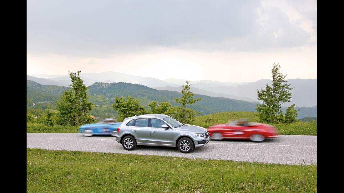 Audi Q5 2.0 TFSI Quattro, Bergstraße, Seitenansicht