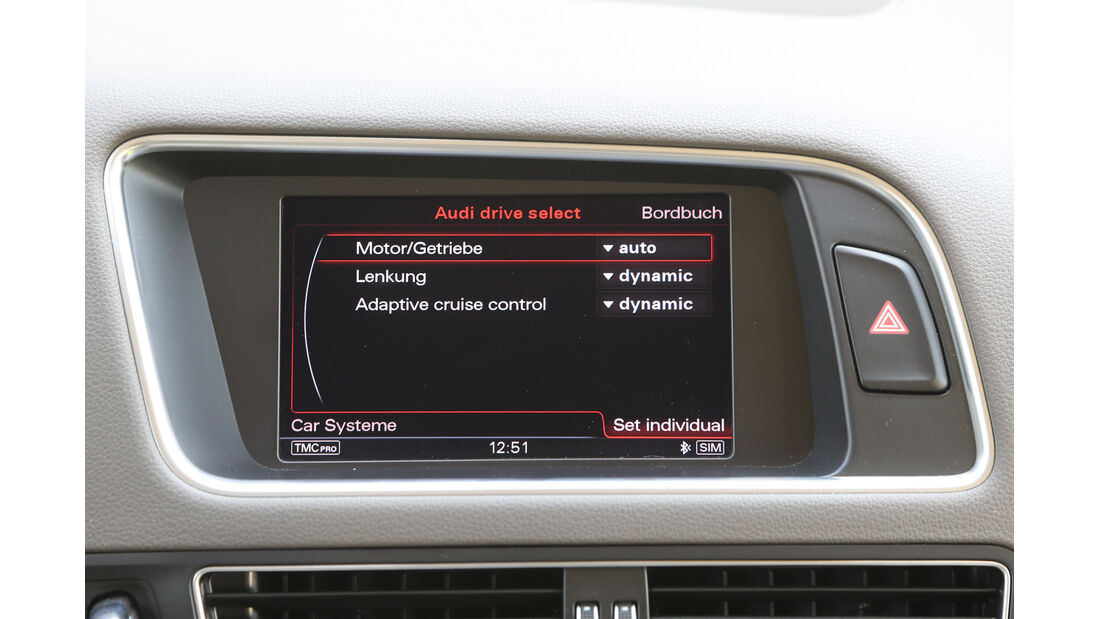 Audi Q5 2.0 TFSI Quattro, Bildschirm, Monitor, Anzeige
