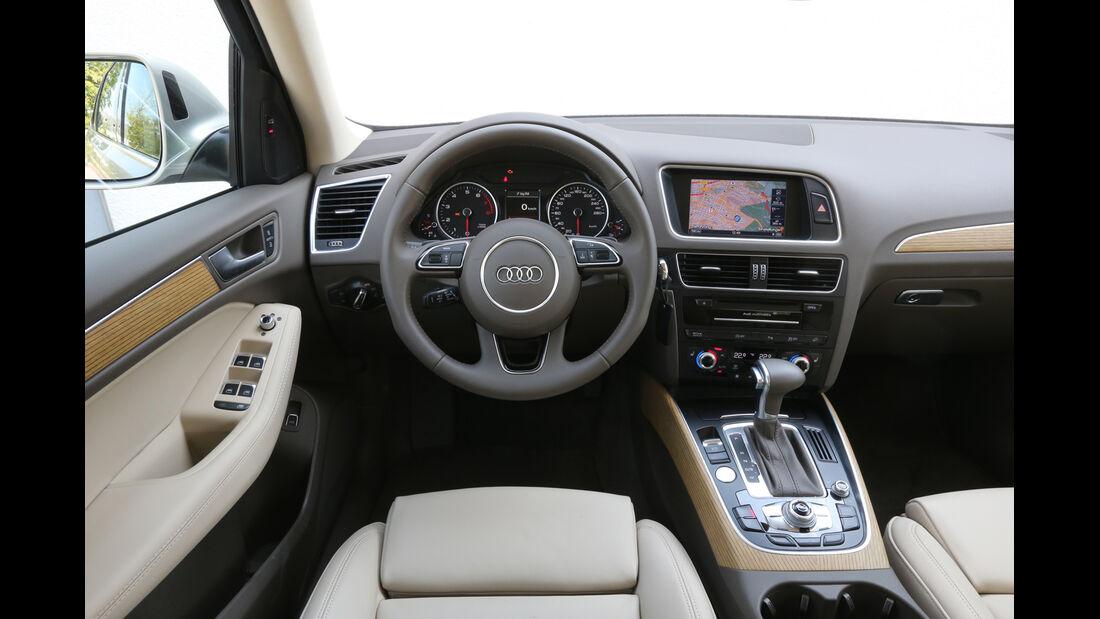 Audi Q5 2.0 TFSI Quattro, Cockpit, Lenkrad