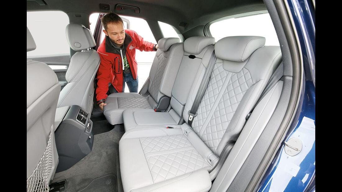 Audi Q5 2.0 TFSI Quattro, Fondsitze
