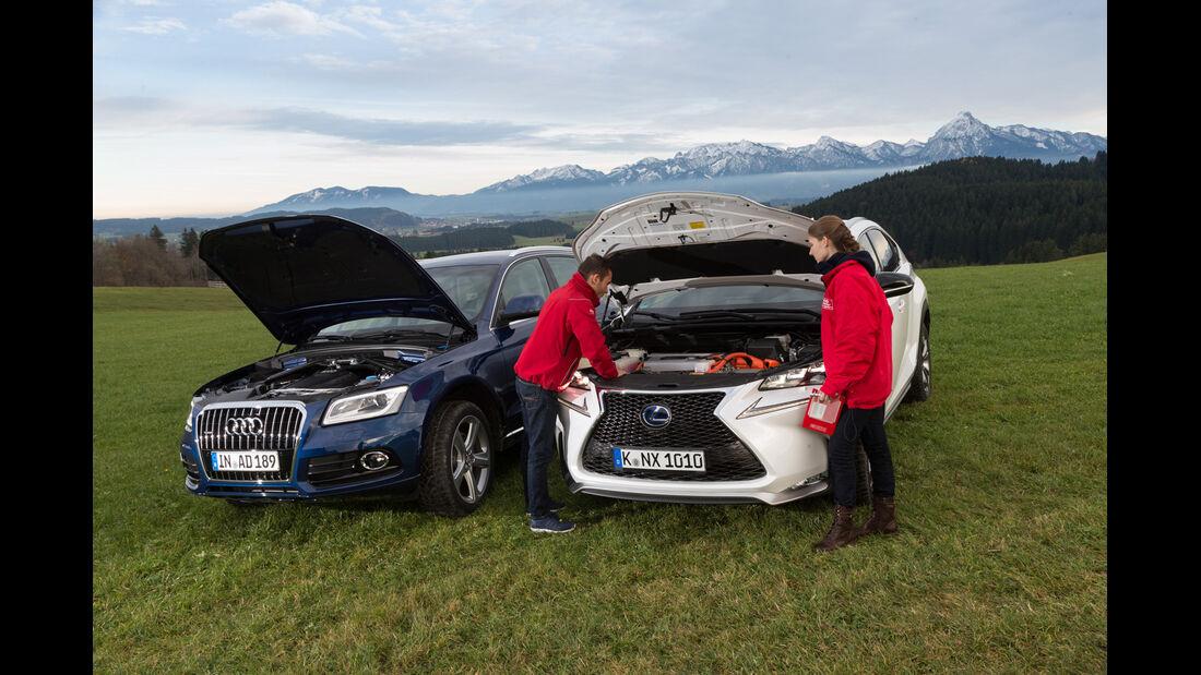 Audi Q5 2.0 TFSI Quattro, Lexus NX 300h E-Four F SPORT, Motoren