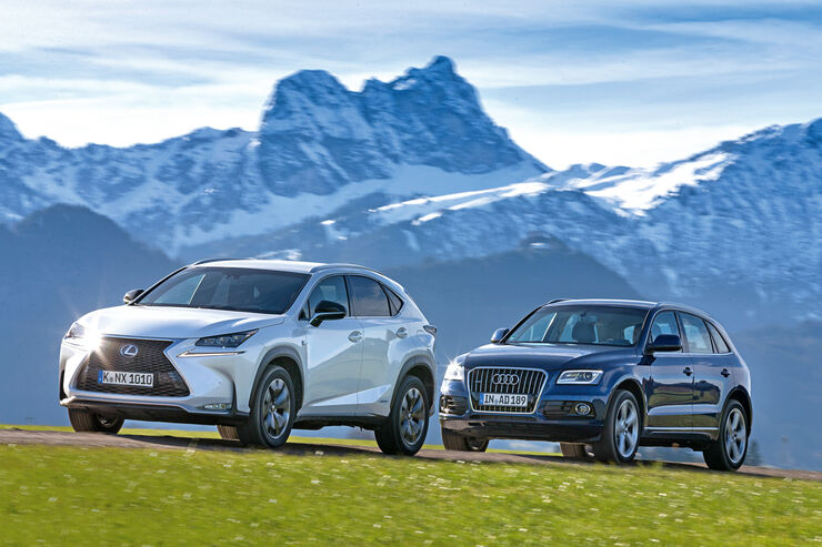 lexus nx 300h e four und audi q5 im vergleichstest hybrid. Black Bedroom Furniture Sets. Home Design Ideas