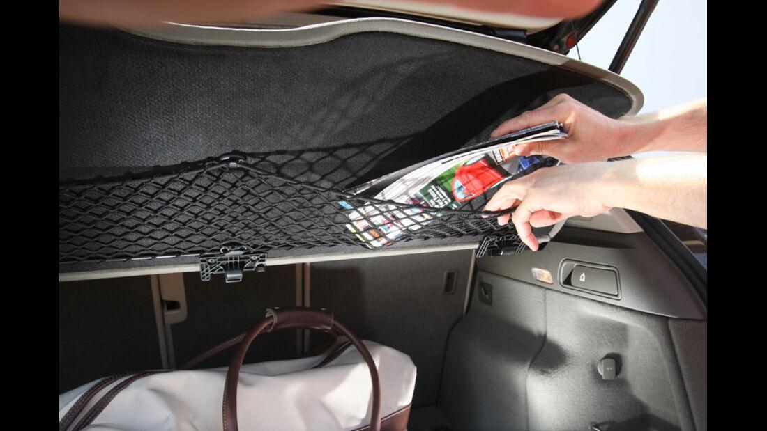 Audi Q5 3.0 TDI Quattro, Kofferraum, Netz, Detail