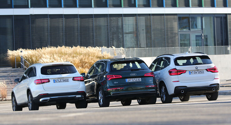 Test Audi Q5 3 0 Tdi Bmw X3 30d Mercedes Glc 350 D
