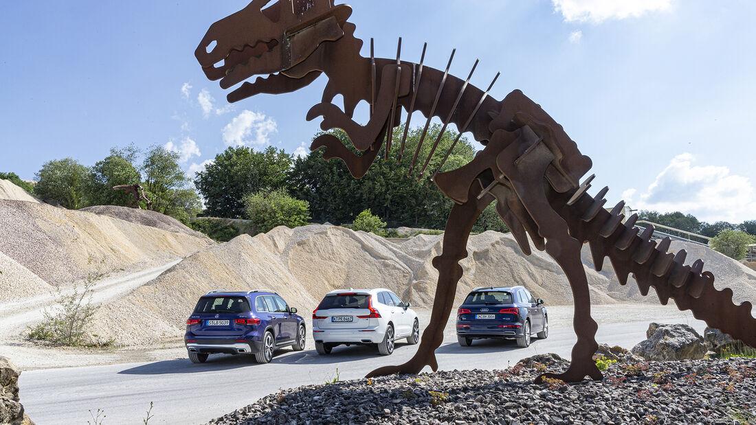 Audi Q5 45 TFSI Quattro Sport, Mercedes GLB 250 4matic Progressive, Volvo XC60 Bs AWD Inscription, Vergleichstest, ams1420