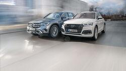 Audi Q5 55 TFSI e Quattro, Mercedes GLC 300 e 4Matic, Exterieur