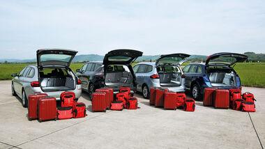 Audi Q5, BMW Fünfer Touring, Opel Zafira Tourer, Renault Espace