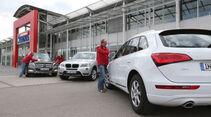 Audi Q5, BMW X3, Mercedes GLK, Gruppenbild