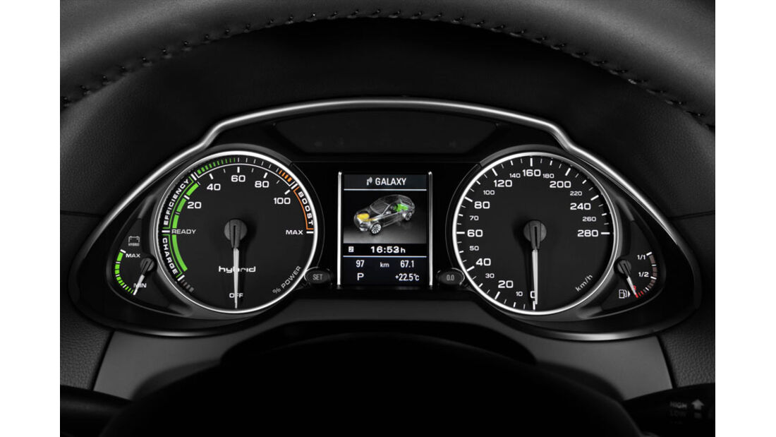 Audi Q5 Hybrid, Instrumente, Powermeter