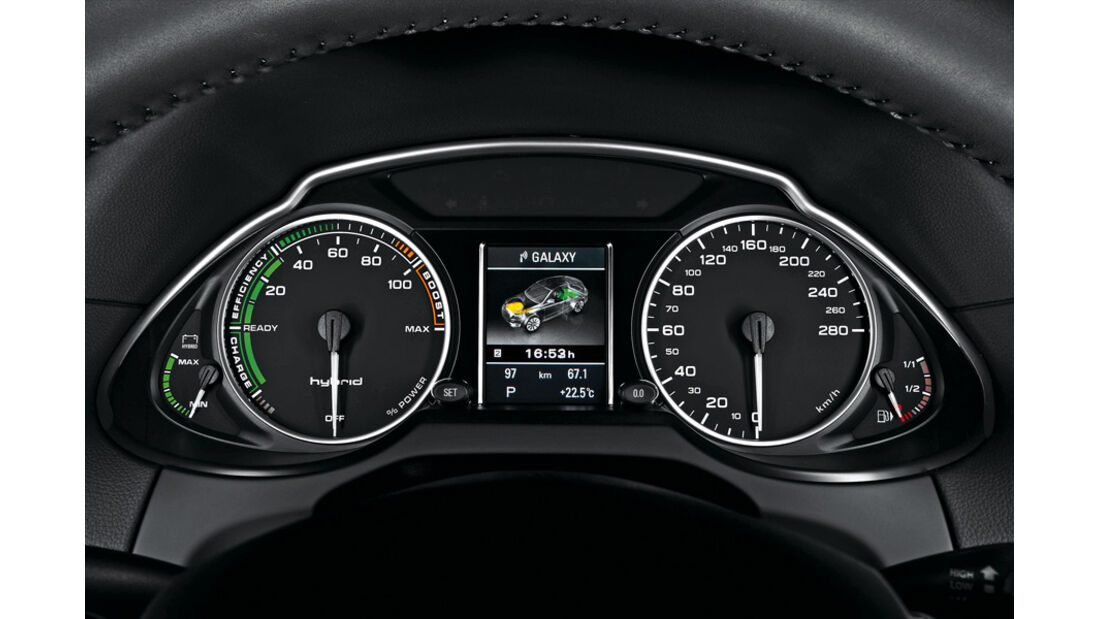 Audi Q5 Hybrid, Tacho, Anzeigeinstrumente, Detail