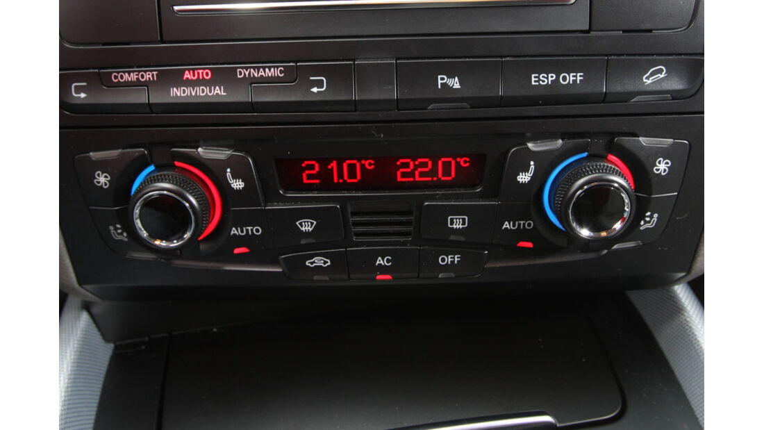Audi Q5 Kaufberatung, Drei-Zonen-Klimaanlage