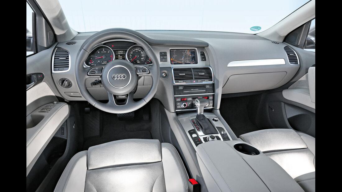 Audi Q7 3.0 TDI, Cockpit, Lenkrad